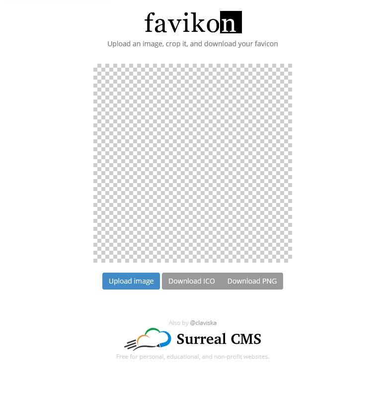 favikonは画像を用意してファビコンをつくります